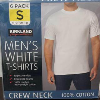 コストコ(コストコ)のコストコカークランド 白Tシャツ Sサイズ×3枚(Tシャツ/カットソー(半袖/袖なし))