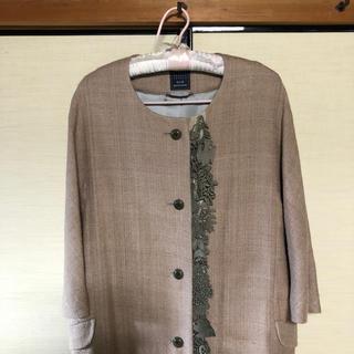 ミナペルホネン(mina perhonen)の🌸ミナペルホネン forest parade モチーフ付き 絹100%コート(その他)