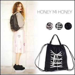 ハニーミーハニー(Honey mi Honey)の未使用 HONEY MI HONEY 編み上げ レースアップ リュック(リュック/バックパック)