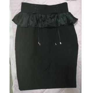 イートミー(EATME)の美品💕EATME💕イートミー💕編み上げフリルスカート💕フリーサイズ💕(ひざ丈スカート)