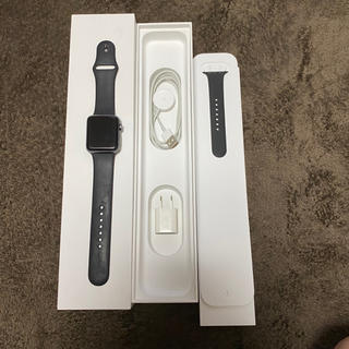アップルウォッチ(Apple Watch)のAppleWatch series 3 42mm GPS+cellular 中古(スマートフォン本体)