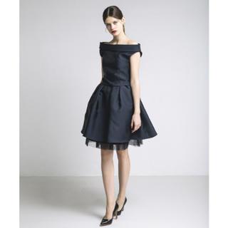 ラグナムーン(LagunaMoon)の2way フレア スカート オフショル セットアップ ドレス 膝丈 チュール(ミニドレス)