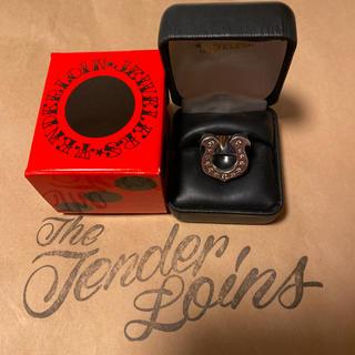テンダーロイン(TENDERLOIN)の希少品! TENDERLOIN ホースシューリング ダイヤ シルバー 10号 銀(リング(指輪))