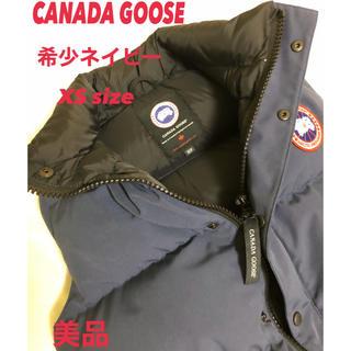 カナダグース(CANADA GOOSE)の【美品】CANADA GOOSE カナダグース ダウンベスト希少XS ネイビー(ダウンベスト)