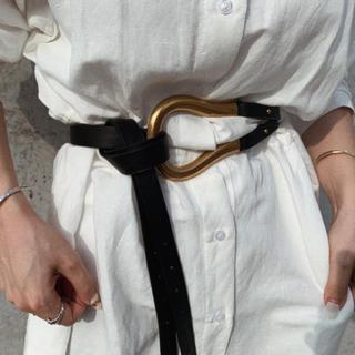 トゥデイフル(TODAYFUL)のBuckle belt BLACK No.452(ベルト)