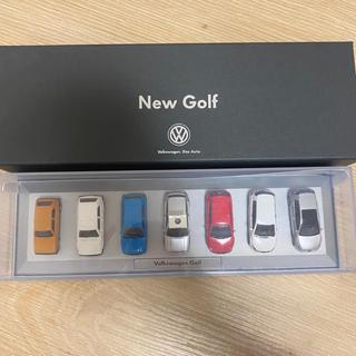 フォルクスワーゲン(Volkswagen)のフォルクスワーゲン 歴代ゴルフ VW ミニカー 七台セット(ノベルティグッズ)
