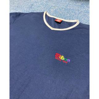 ウィルソン(wilson)のウィルソン 刺繍 ビッグシルエット 半袖Tシャツ(Tシャツ(半袖/袖なし))