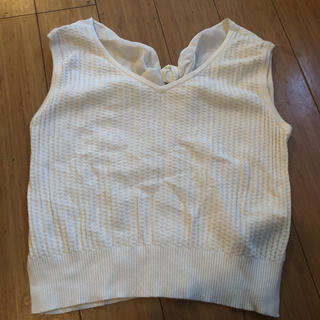 リリーブラウン(Lily Brown)のフリーサイズ  美品 リリーブラウン ホワイト(Tシャツ(半袖/袖なし))