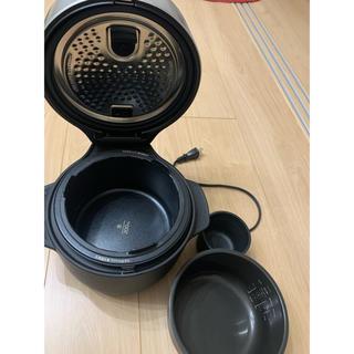 バルミューダ(BALMUDA)の美品バルミューダブラック炊飯器(炊飯器)