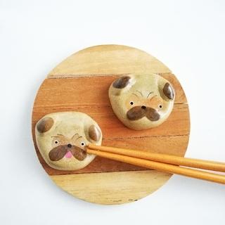 パグ犬 箸置きセット(テーブル用品)