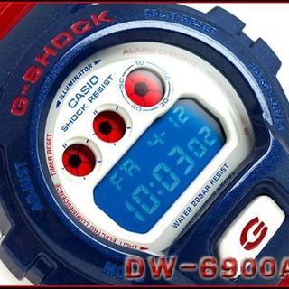 カシオ(CASIO)のカシオ時計☆個性的・マルチカラーリング!!ビビットなBlue ・ Red(腕時計(デジタル))