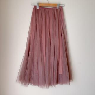 セシルマクビー(CECIL McBEE)のセシルマクビー チュールスカート ピンク(ロングスカート)