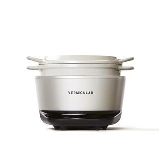 バーミキュラ(Vermicular)のバーミキュラライスポットミニ ホワイト 3合炊き用(炊飯器)
