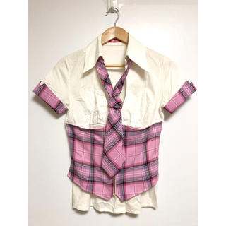 マーズ(MA*RS)のMA*RS マーズ チェック コルセット シャツ ネクタイ付き(シャツ/ブラウス(半袖/袖なし))