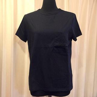 エルメス(Hermes)のHERMES エルメス コットン Tシャツ ブラック  SIZE 38(Tシャツ(半袖/袖なし))