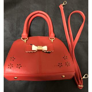 リズリサ(LIZ LISA)のリズリサ☆リボンが可愛い赤のハンドバッグ!(ショルダーバッグ)