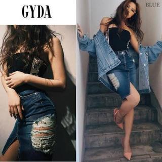 ジェイダ(GYDA)のGYDA side rippedタイトスカート(ひざ丈スカート)