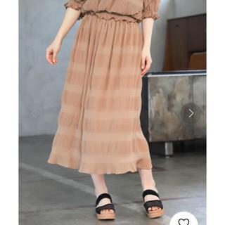 ミスティウーマン(mysty woman)のmysty womanマジョリカプリーツスカート(ロングスカート)