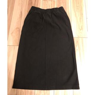 ユニクロ(UNIQLO)のUNIQLO   スカート デニムジャージースカート 黒 Mサイズ(その他)
