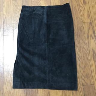 グッチ(Gucci)のグッチ GUCCI 革 タイトスカート スカート 黒 ボトムス レディース(ひざ丈スカート)