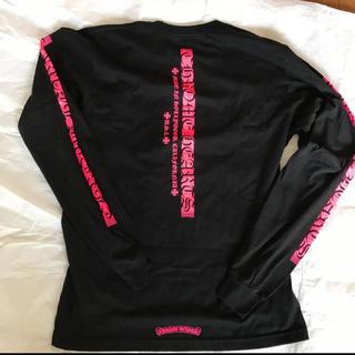 クロムハーツ(Chrome Hearts)の新品 最新作クロムハーツ スクリプト 長袖Tシャツ ロンT 黒 L/XLサイズ(Tシャツ(長袖/七分))