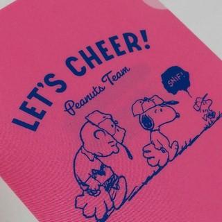 スヌーピー(SNOOPY)のスヌーピー チャーリーブラウン ミニ クリアファイル ピーナッツ ピンク 非売品(クリアファイル)