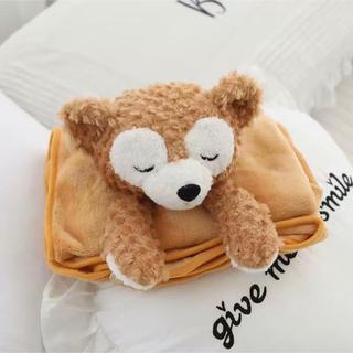ダッフィー(ダッフィー)の日本未発売 ダッフィー  ブランケット タオルケット 毛布 ラス1(毛布)