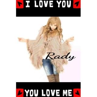 レディー(Rady)の*°♡Rady*°♡美品ファーラグジュアリーリボン付きポンチョ*°♡(毛皮/ファーコート)