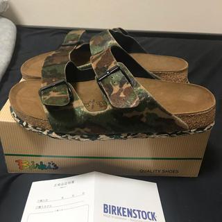ビルケンシュトック(BIRKENSTOCK)のBIRKENSTOCK Birki's ArizonaSpecialカモグリーン(サンダル)