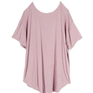 エイミーイストワール(eimy istoire)のバックオープンリラックスTシャツ(Tシャツ(半袖/袖なし))