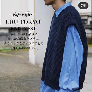 アンユーズド(UNUSED)のuru 18aw knit vest navy ニットベスト(ベスト)