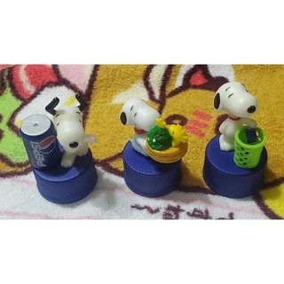 スヌーピー(SNOOPY)のスヌーピー×PEPSI ボトルキャップ 3種set(ノベルティグッズ)