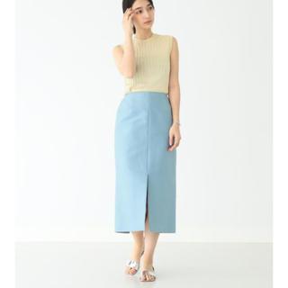 デミルクスビームス(Demi-Luxe BEAMS)のDemi-Luxe BEAMS / コットンシルク スリットタイトスカート(ひざ丈スカート)