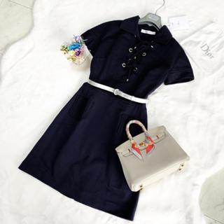 クリスチャンディオール(Christian Dior)のDior クリスチャンディオール ワンピース 極美品(ひざ丈ワンピース)