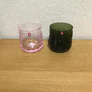 イッタラ(iittala)の新品 フルッタ モスグリーン ペールピンク フローラ scope(グラス/カップ)