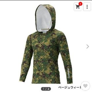 シマノ(SHIMANO)のシマノ ロングスリーブフーディシャツ、ネッククール(ウエア)