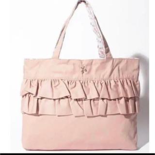プティマイン(petit main)のプティマイン フリルトートバッグ フリル レッスン バッグ 新品 ピンク(トートバッグ)