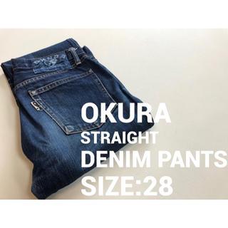 オクラ(OKURA)のW28 OKURA JEANS オクラジーンズ ストレートデニムパンツ 301(デニム/ジーンズ)