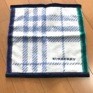 BURBERRY - バーバリー ミニタオル 約25×24.5㌢ ブルー系