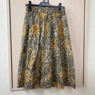 柄スカート(ひざ丈スカート)
