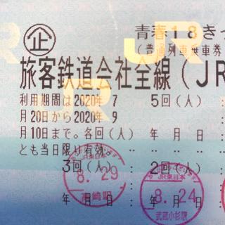 ジェイアール(JR)の青春18きっぷ1枚 日曜夜発送 手渡し可(鉄道乗車券)