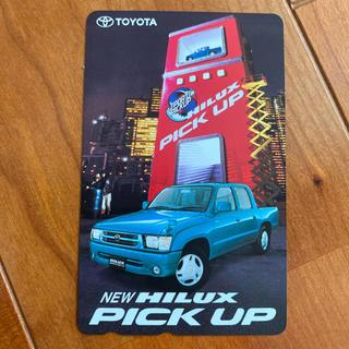 トヨタ(トヨタ)のテレフォンカード 未使用 トヨタ ハイラックスピックアップ(ノベルティグッズ)