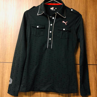 PUMA - プーマ ゴルフウェア M レディース シンプル ポロシャツ 長袖