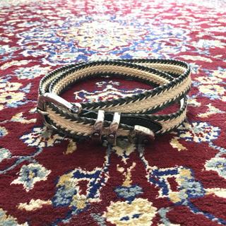 ジョンローレンスサリバン(JOHN LAWRENCE SULLIVAN)のVINTAGE leather & rope western belt(ベルト)