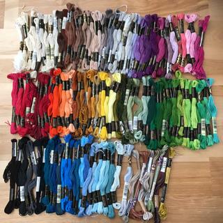 オリンパス(OLYMPUS)の刺繍糸 セット まとめ売り(生地/糸)