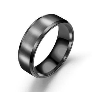 指輪 ステンレスリング ブラック(リング(指輪))