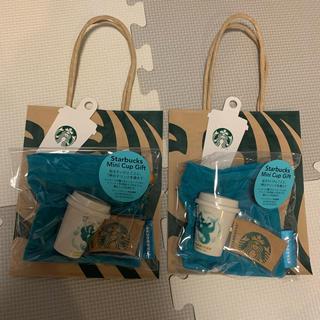 スターバックスコーヒー(Starbucks Coffee)のスターバックス アニバーサリー2020ミニカップギフト 2個セット(フード/ドリンク券)