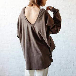 アンティローザ(Auntie Rosa)のAuntieRosaHoliday  バッグオープンコットンTシャツ(Tシャツ(長袖/七分))