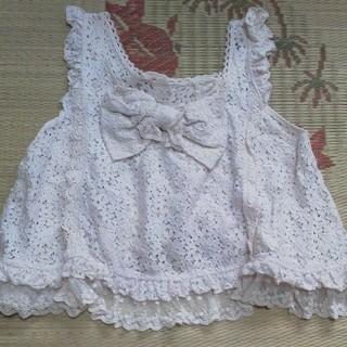 リズリサ(LIZ LISA)の⭐LIZ LISA ピンク りぼん トップス⭐(カットソー(半袖/袖なし))