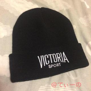 ヴィクトリアズシークレット(Victoria's Secret)の【Victria's Secret】ビーニータイプニット帽【美品】(ニット帽/ビーニー)